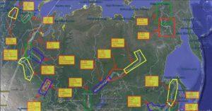 Карты рек Сибири и Севера России