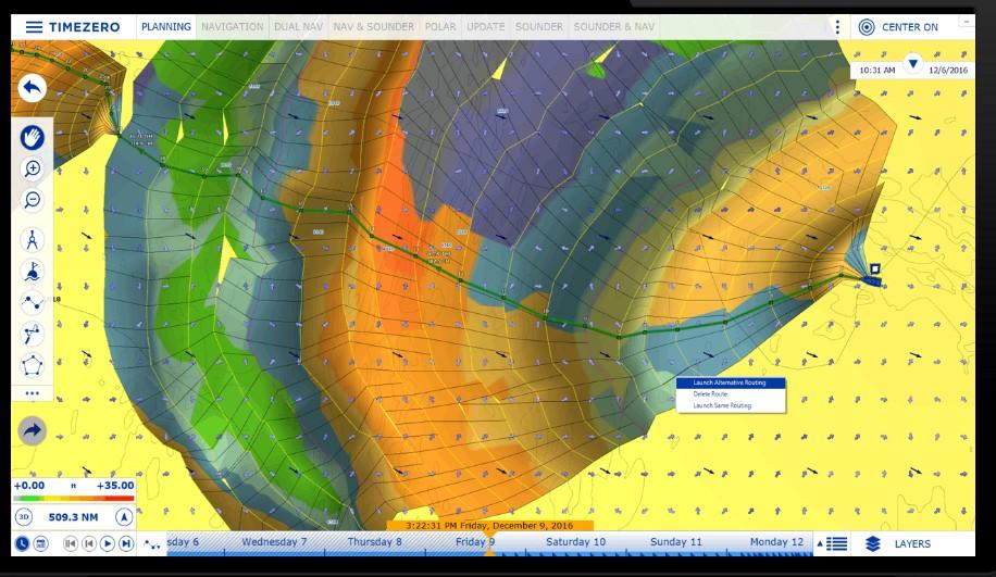 Модуль Weather Routing